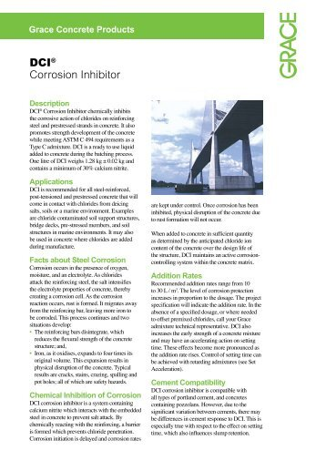 DCI® Corrosion Inhibitor - W.R. Grace - Grace Construction Products