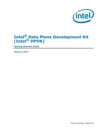 Intel® DPDK Getting Started Guide