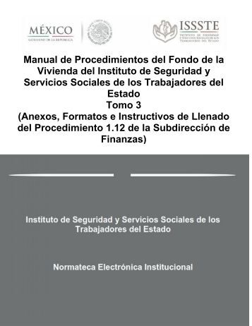 Manual de Procedimientos del Fondo de la Vivienda del Instituto de ...