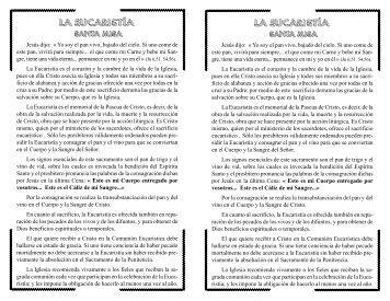 La Eucaristía (Santa Misa) - Encuentra.com