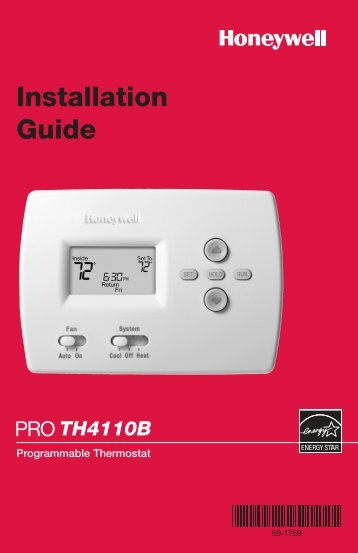 TH4110B Programmable Thermostat - PEX Universe