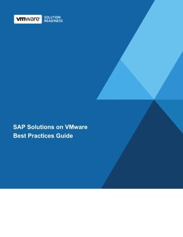 Whitepaper: SAP Solutions on VMware Best Practices Guide