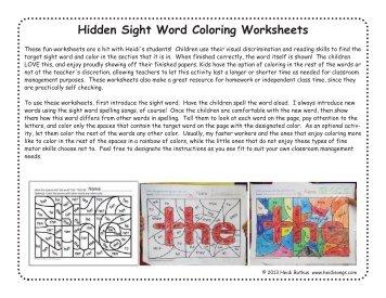 com word songs color  hidden word worksheets sight sight worksheets heidisongs hidden heidi hidden free