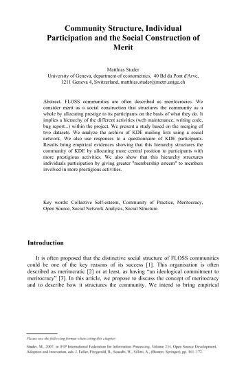 community and social structure 2 the impact of social media on social movements: the new opportunity and mobilizing structure amandha rohr lopes this paper seeks to explain and test the formation process of social movements by.