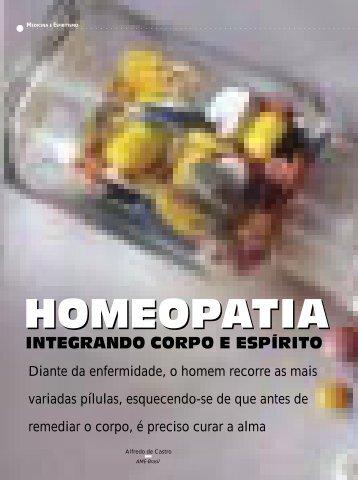HOMEOPATIA HOMEOPATIA - Revista Cristã de Espiritismo