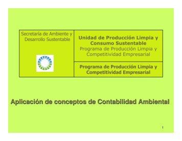 Aplicación de conceptos de Contabilidad Ambiental - Secretaria de ...