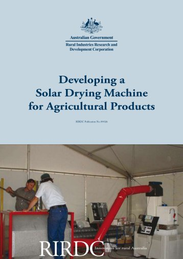 Developing a Solar Drying Machine for Agricultural Products