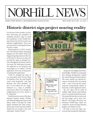May/June 2013 - Norhill Neighborhood Association