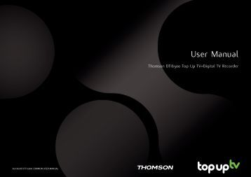 3633633D DTI 6300 COMMON USER MANUAL - Top Up TV