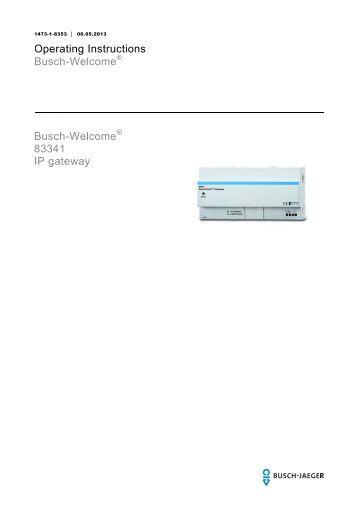 busch welcome 83340 ip gateway 2 wire busch jaeger. Black Bedroom Furniture Sets. Home Design Ideas