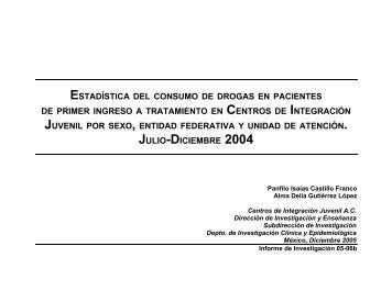 Segundo Semestre de 2004 - Centros de Integración Juvenil