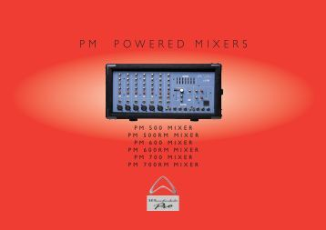 pm seres - powered mixers brochures - Wharfedale Pro