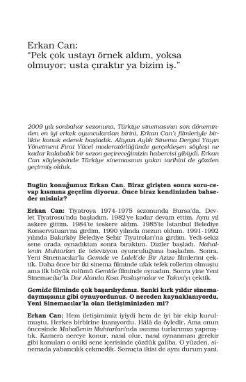 Erkan Can - Mithat Alam Film Merkezi