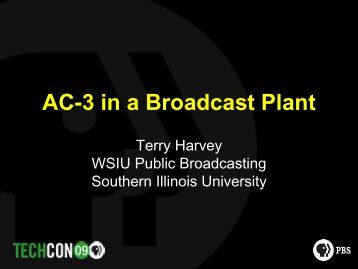 Dolby AC-3 in a Broadcast Plant - PBS