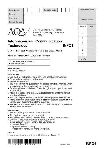 Exam Paper - June 2009