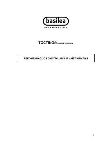 NPP rekomendacijos gydytojams ir vaistininkams - Toctino