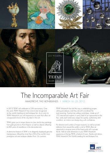 The Incomparable Art Fair - tefaf