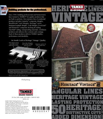 VINTAGE VINTAGE - PA Supply Company