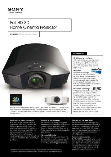 Full HD 3D Home Cinema Projector