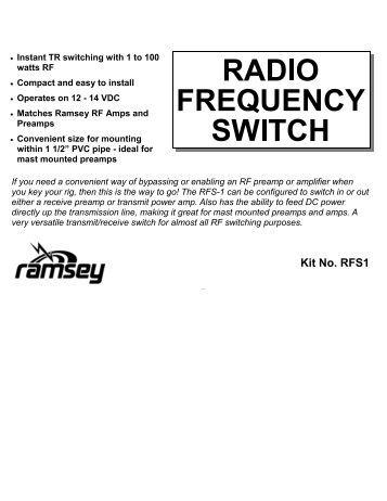 wsr-1a weather satellite receiver kit - Ramsey Electronics
