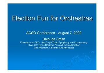 Election Fun for Orchestras - ACSO