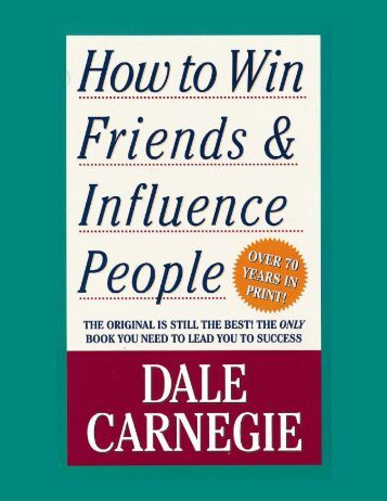 how to make friends and influence dale carnegie
