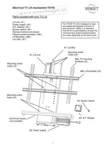 Mechanical Tv Lift Hardware : Lift up mechanisms tekform