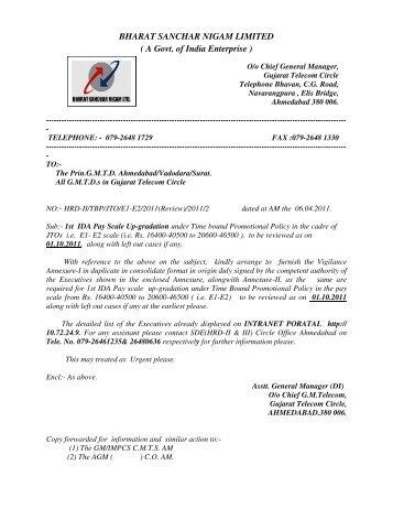 BHARAT SANCHAR NIGAM LIMITED ( A Govt. of India ... - SNEA(I)