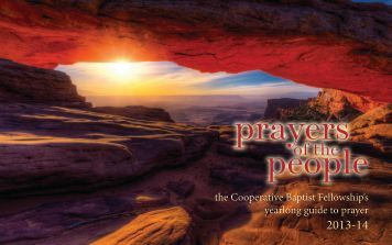 prayers people - Cooperative Baptist Fellowship