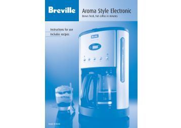 Breville Aroma Fresh Coffee Maker Instructions : Russell Hobbs Abbey Lane Coffee Maker (Model #RHG601)