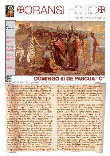 OL Domingo III Pascua C, PDF - Orans lectio