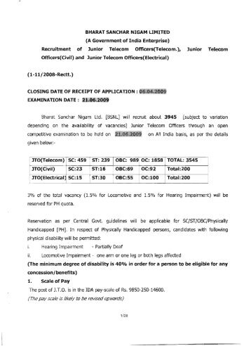 BHARAT SANCHAR NIGAM LIMITED (A Government of India ... - IETE