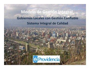 Modelo de Gestión Integral - Municipalidad de Providencia