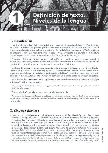 Propuesta Didáctica Unidad 1. Lengua Castellana y ... - Algaida
