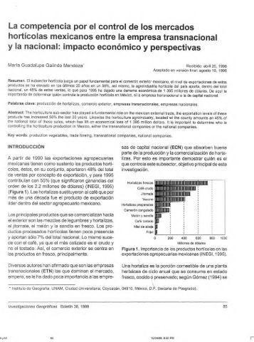 La competencia por el control de los mercados hortícolas ...