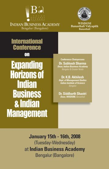 Expanding Horizons of Indian Business & Indian Management