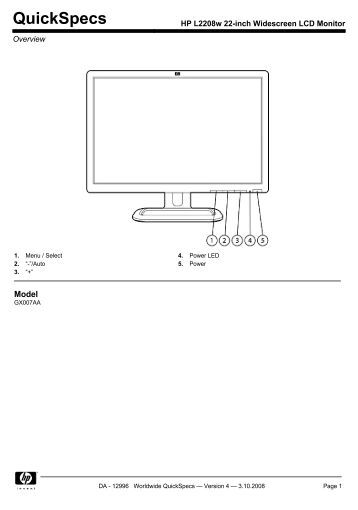 19 inch widescreen flat panel lcd monitor owner u0026 39 s manual