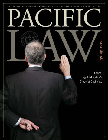 Pacific Law Spring 2010 - Mastagni Holstedt Amick Miller