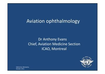Aviation ophthalmology