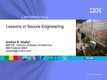 IBM Rational Software Agile Development ... - Build Security In