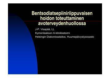 Bentsodiatsepiiniriippuvaisen hoidon toteuttaminen - Halko-ryhmä