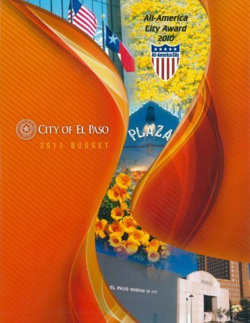 FY11 Budget Book - City of El Paso