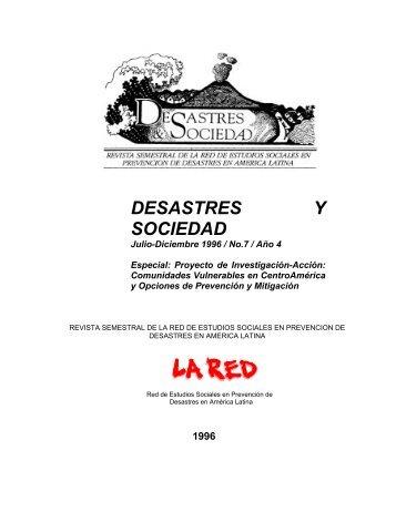DESASTRES Y SOCIEDAD - La RED