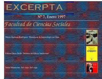 Excerpta N° 7 - Facultad de Ciencias Sociales - Universidad de Chile
