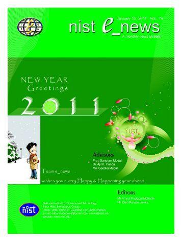 NIST e-NEWS(Vol 74, January 15, 2011)
