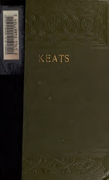 the life and literary works of john keats Life, letters, and literary remains, of john keats the complete poetical works and letters of john keats may 16, 2008 05/08 by keats, john.