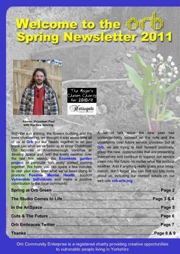Spring 2011 - ORB Community Arts