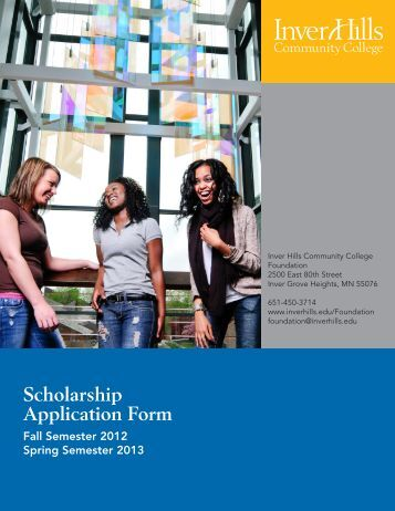 Scholarship Application Form - Inver Hills Community College