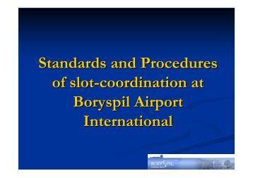 Airport slot coordination
