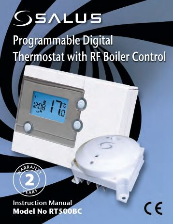 Programmable Digital Thermostat with RF Boiler Control - Salus